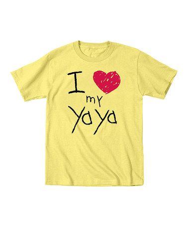 Loving this Banana 'I Love My Yaya' Tee - Toddler & Kids on #zulily! #zulilyfinds