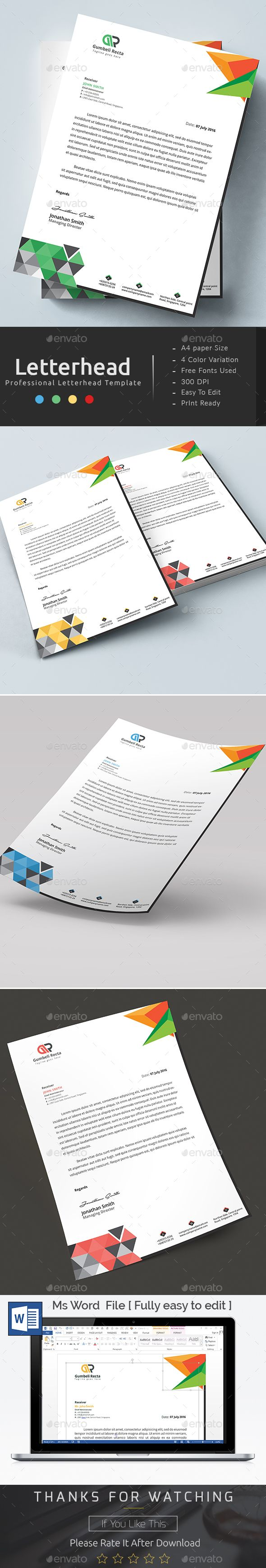 Business Letter Templates Word%0A MS Word Letterhead Template