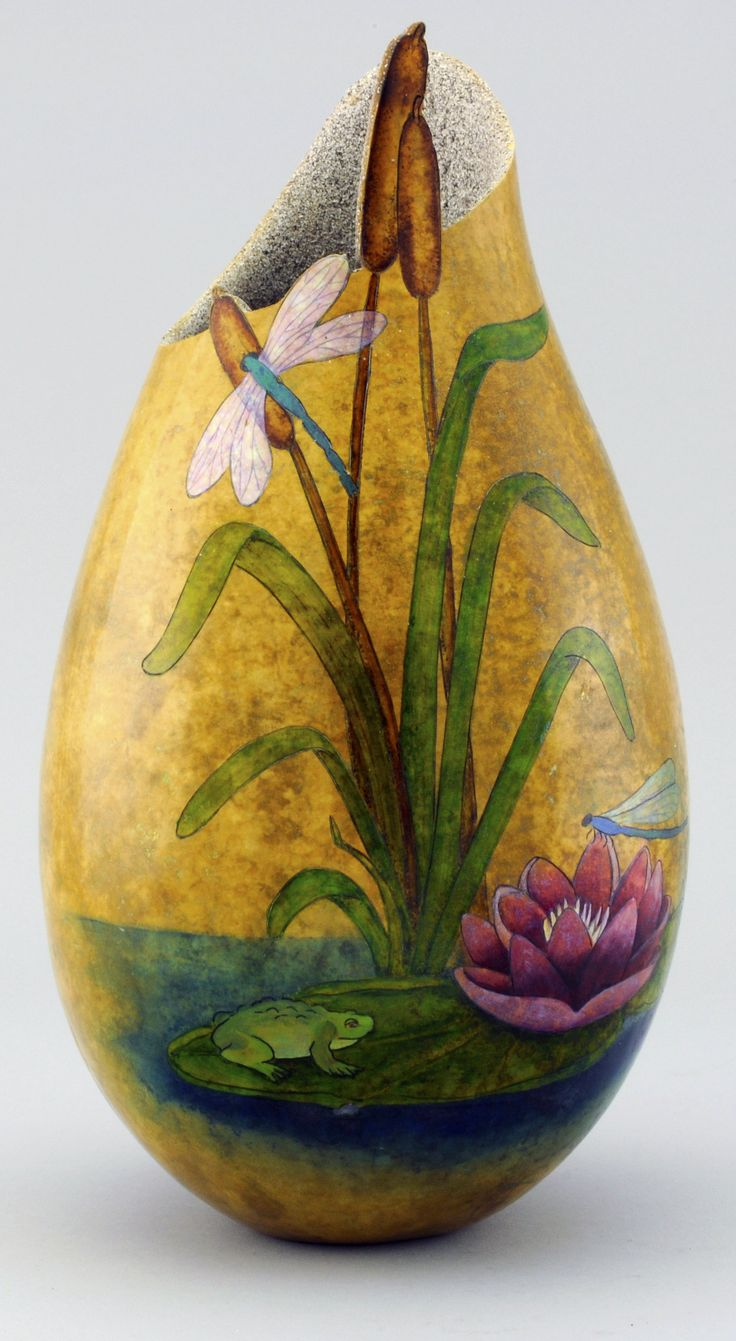 3D Sander is Back - Click here to learn how to polish a gourd. Gourd Art by Gloria Crane