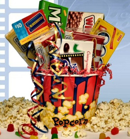Movie Night Bouquet With Drinks