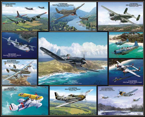 Airplanes of World War II Puzzle - 1000 pieces | Main photo (Cover)