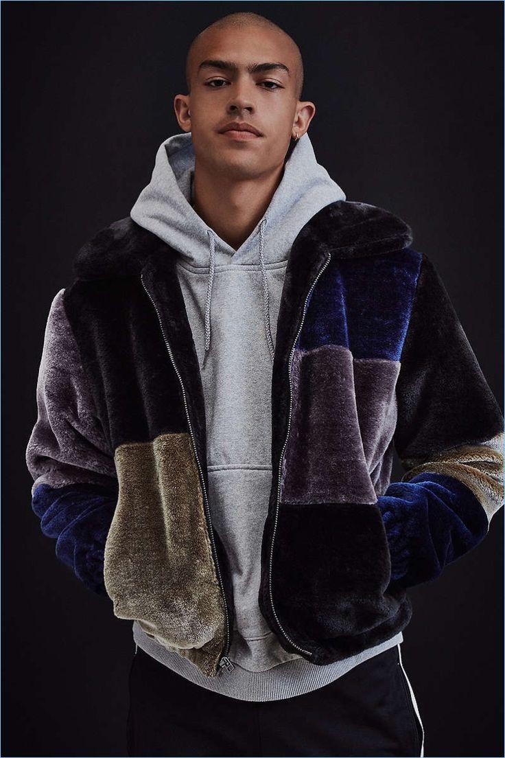UO Patchwork Faux Fur Jacket