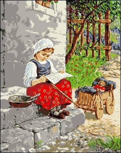 Канва с рисунком Гелиос А-022 Девочка