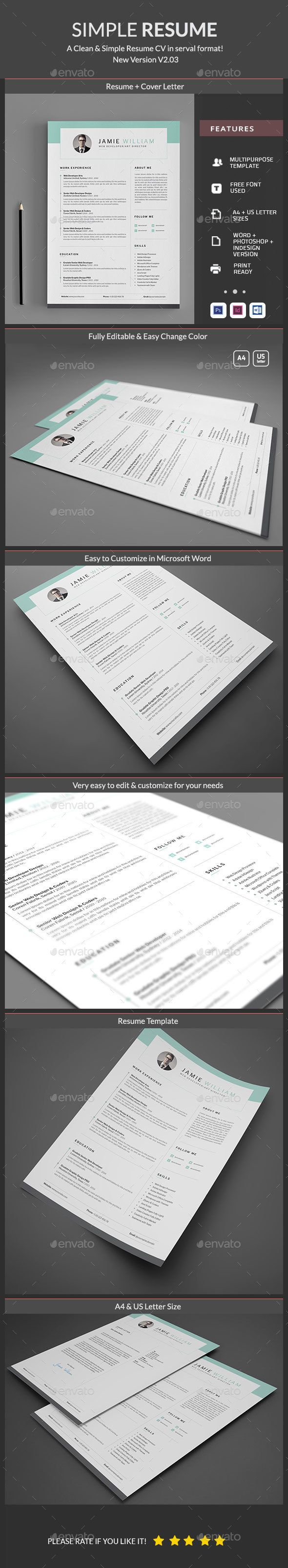 Buy Clean Resume by Elegant Design on GraphicRiver