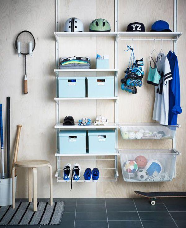 10 Brilliant Sport Equipment Storage Ideas Algot Ikea Algot Storage Design