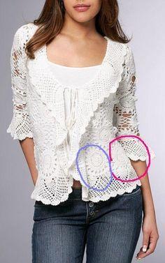 'passo a passo  CROCHET/TRICOT INSPIRATION MORE: http://pinterest.com/gigibrazil/crochet-summer/