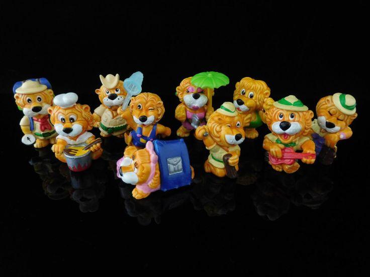 Vintage Toys, Collectible, Leoventuras, Lions Adventure, Lion Ranger, Complete Series of 10 Figures, KINDER Surprise Figurines by MrVintageToySurprise on Etsy