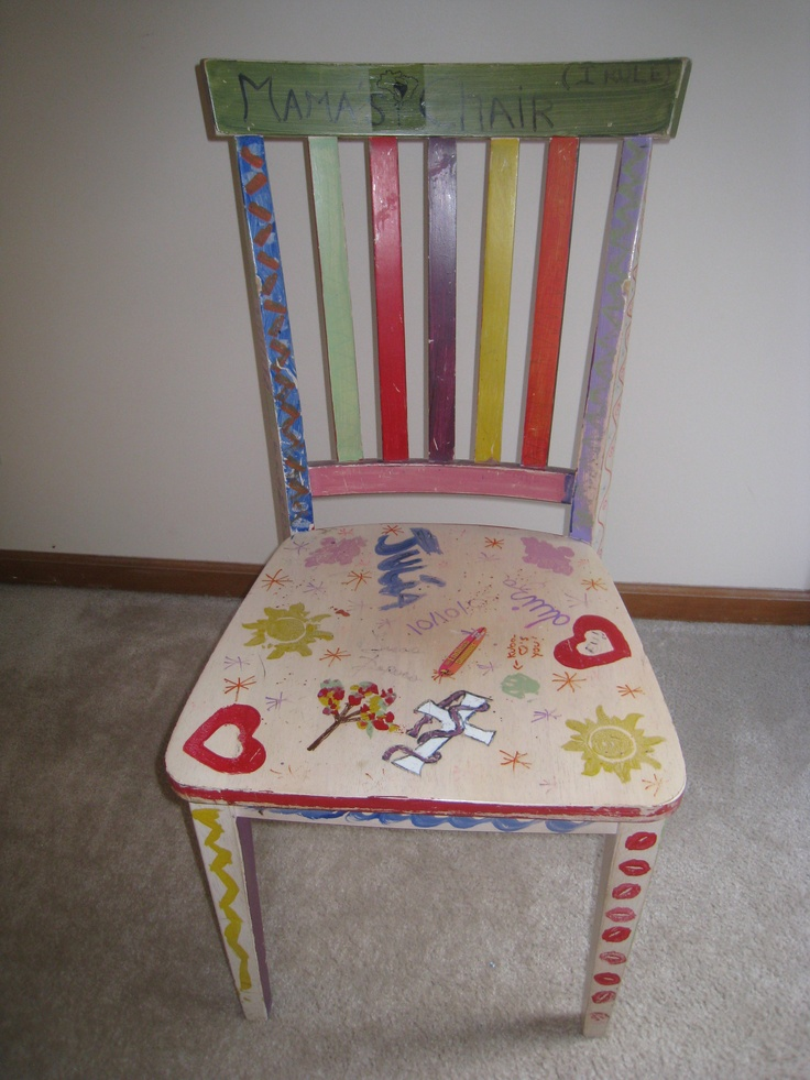 In 2007, Our Family Painted A Chair For Each Member, As A Birthday Present