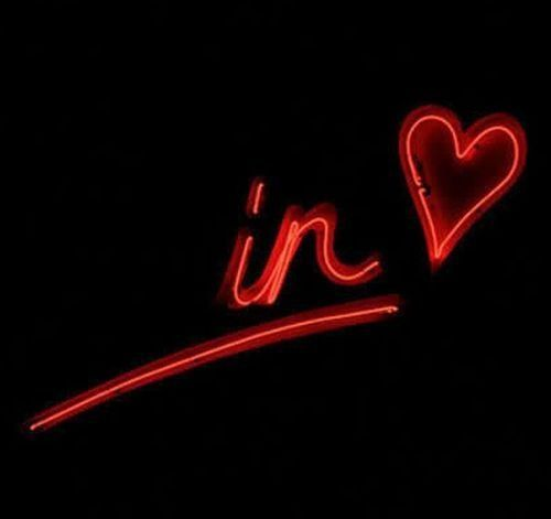 in love neon sign