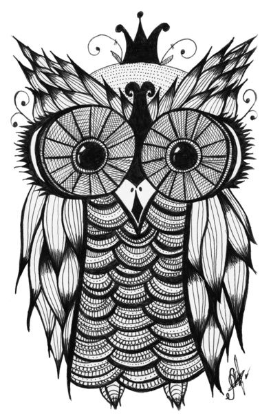 Another owl drawing that would make a really neat tattoo...