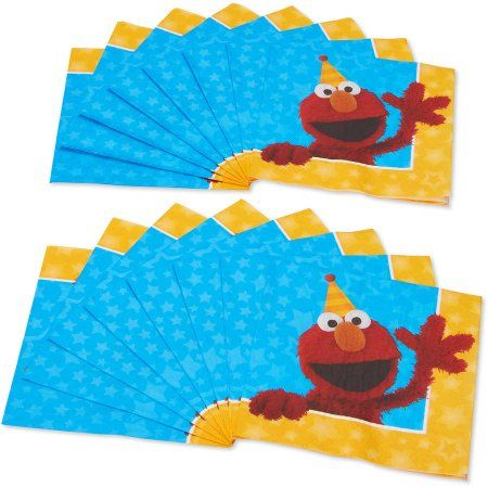 Sesame Street Lunch Napkins, 16 Count, Party Supplies