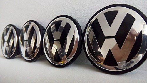 Lot de 4Volkswagen Noir, Golf, PASSAT CC, EOS, Centre de roue en alliage Hub Bouchons Face 65mm: Volkswagen jante en alliage pour Ford…