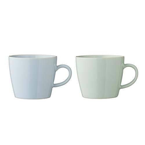 Bloomingville Olivia Cup, 2 ass. Blue/Mint Ø9,5xH8 cm