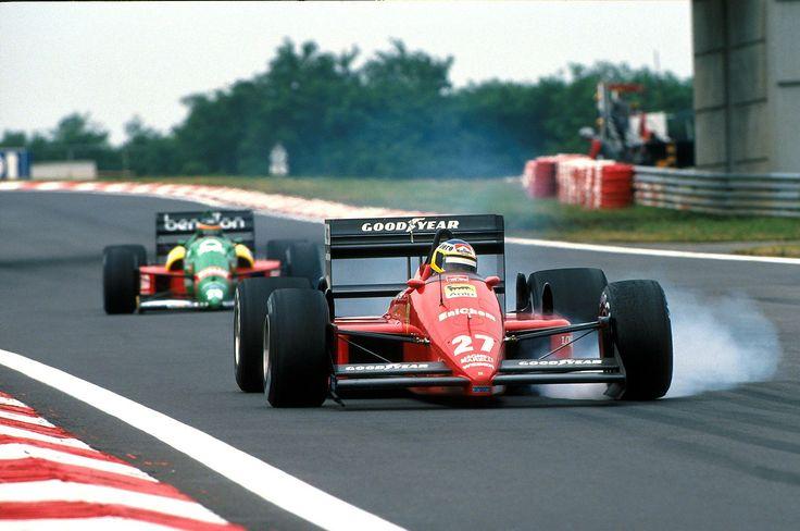 Michele Alboreto - Ferrari F187/88C - 1988 - Hungarian GP (Hungaroring) [1600x1061]