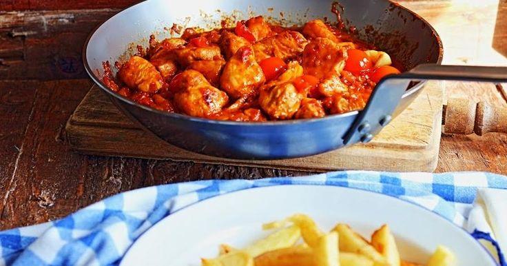 Pollo en salsa de tomate (especial recetas fáciles)