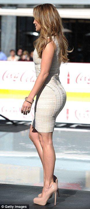 Trendsetter: Jennifer Lopez wore a pair of concealed platforms back in 2010