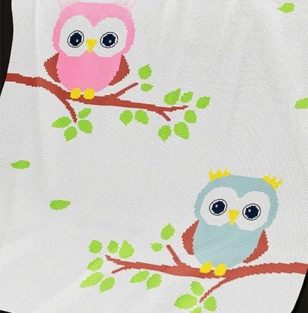 Knitting Pattern | Baby Blanket / Afghan - Owls