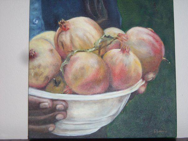 Pomegranates in a bowl.