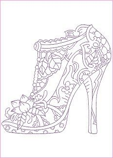 362 best images about Adult Colouring Shoes Feets Hands