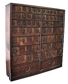 Japanese antique medicine Tansu