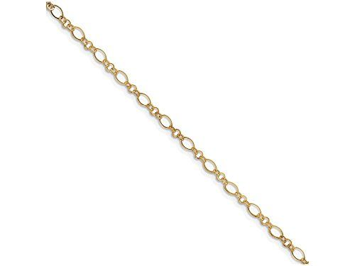 10 Inch 14k 9in with 1in Ext Anklet.More info for sterling silver anklet ankle bracelet;stores that sell anklets;silver anklets online shopping;gold anklets online;kundan anklets online could be found at the image url.(This is an Amazon affiliate link and I receive a commission for the sales)