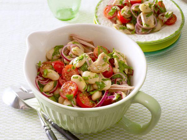 Gesundes Abendessen – lecker-leichte Rezepte - thunfisch-bohnen-salat  Rezept