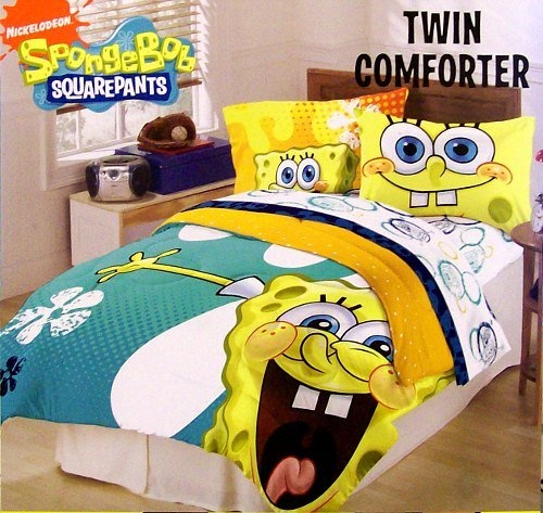 Nickelodeon SpongeBob Squarepants Twin Comforter From