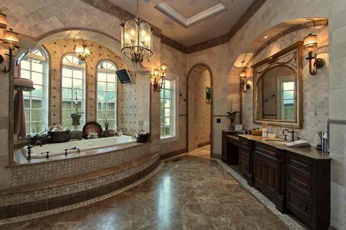 Old World Tuscan Bathrooms | ... .com | Old World/Tuscan Bathrooms And  Powder Bat | ~Old World Tuscan Style~ | Pinterest | Tuscan Bathroom, Tuscan  Style And ...