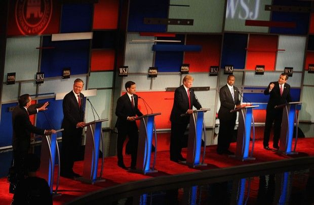 Republican candidates debate in Milwaukee, November 10, 2015. (Getty Images/Scott Olson)