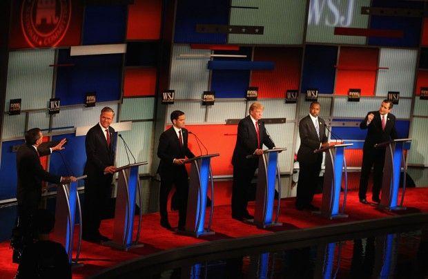 Republican candidates debate in Milwaukee, November 10, 2015. (Getty Images/Scott Olson)
