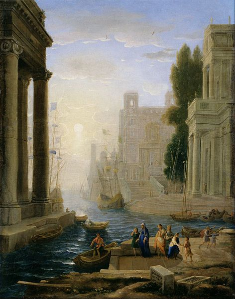Claude Gelee / Claude Lorrain - Embarkation of St Paul (17th century)
