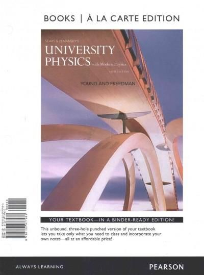 Sears and Zemansky's University Physics With Modern Physics