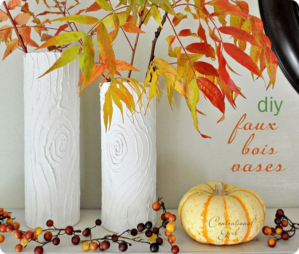 DIY faux boisCrafts Ideas, Diy Faux, Fake Wood, Diy Crafts, Diy Christmas Gift, Vases En, Bois Vases, Painting Techniques, Candles Vases