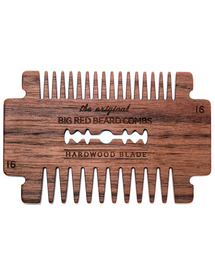 Big Red Beard Comb Hardwood Blade... might try to replicate this.