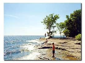 Catawba Island State Park - a small fishing pier and beautiful views of Lake Erie.  Would be a great place to watch the sunset and it's not far from the Holiday Inn Express!