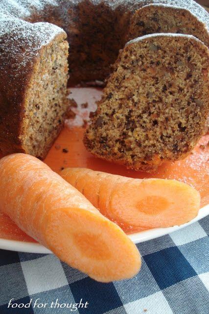 Food for thought: Κέικ καρότου χωρίς αυγά - Νηστήσιμο και υγιεινό!!