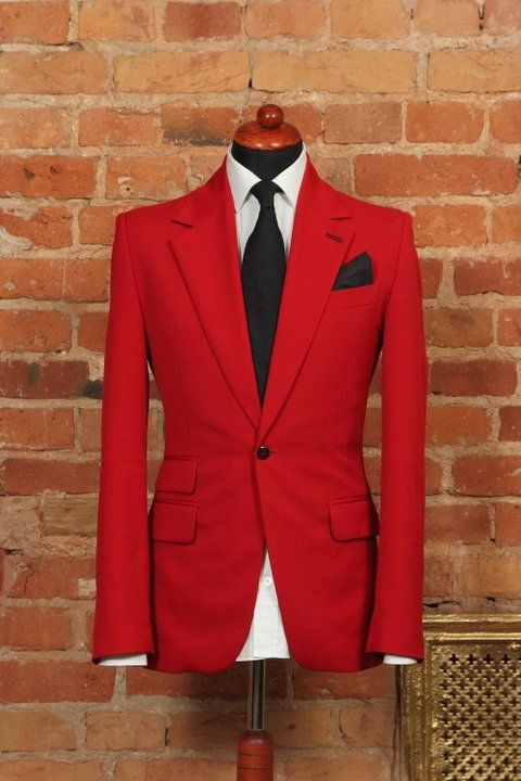 De La Garza Malboro red blazer/ mens fashion/ blazer/ suits