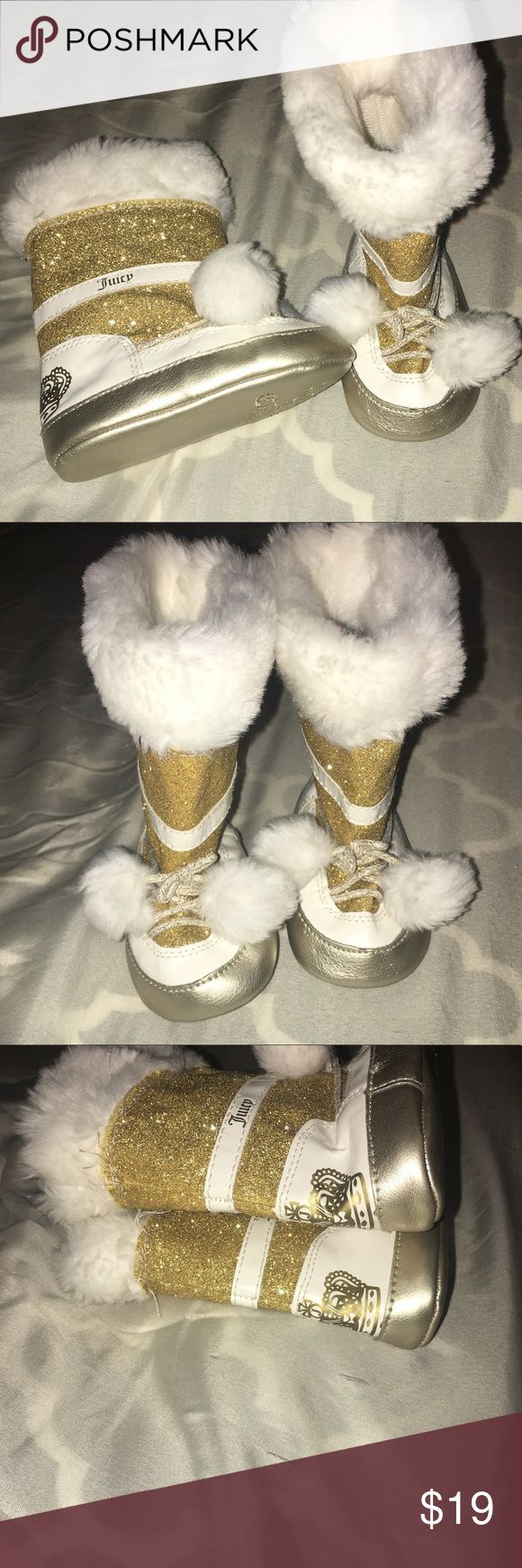 Juicy Couture Baby Girls Boots Size 3-6 months Excellent condition Juicy Couture Shoes Baby & Walker