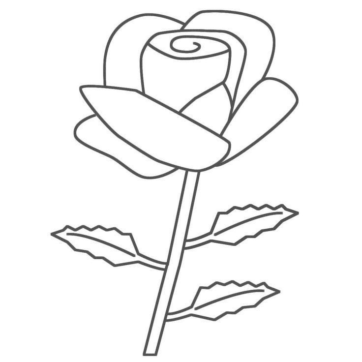 Rose Flower Coloring Pages Kostenlose Ausmalbilder Malvorlagen Wenn Du Mal Buch