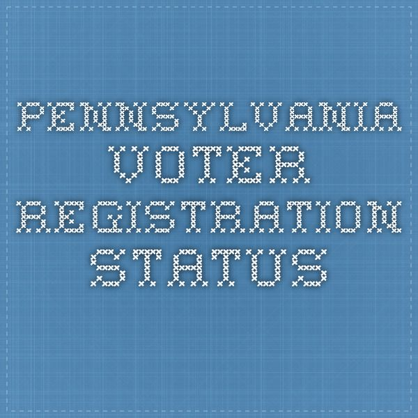 Pennsylvania Voter Registration Status
