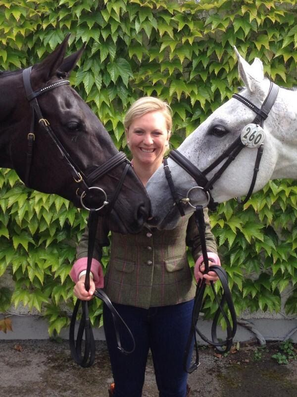 Our supported Event rider Gemma Tattersall looking great in her TF Grace Jacket with two of her horses :)