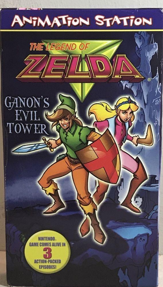 VTG Nintendo The Legend of Zelda Ganon's Evil Tower Cartoon VHS Tape 1998  | eBay
