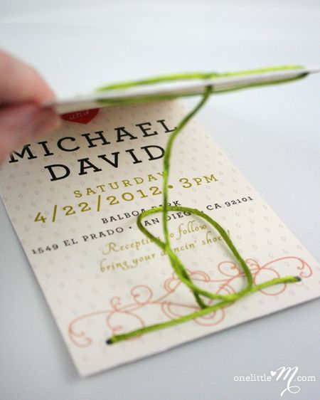 This Invitation Actually Ties The Knot When Its