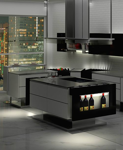modern minimalist kitchen design by Hode. The Liu kitchen by Italian designer Flavio Scalzo makes it possible to get all your food prep and cooking done with ease