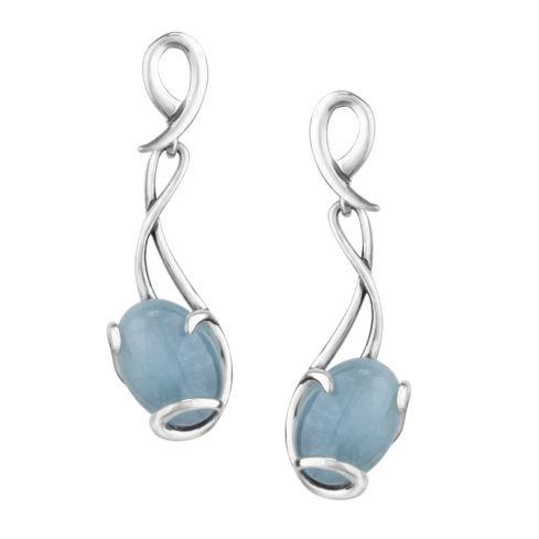 Rhapsody Aquamarine Sterling Silver Earrings