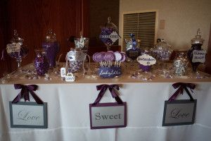 Candy Table Signs Wedding Favors Platypus Papers - Platypus Papers