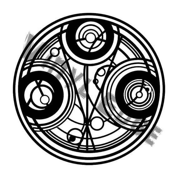 Doctor Who Vinyl Decal Gallifreyan Symbol  Vinyls Decals  Art    Doctor Who Symbol