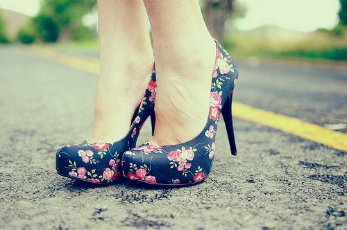 Floral floral floral beautiful,shoes, fashion, floral, photography, pretty