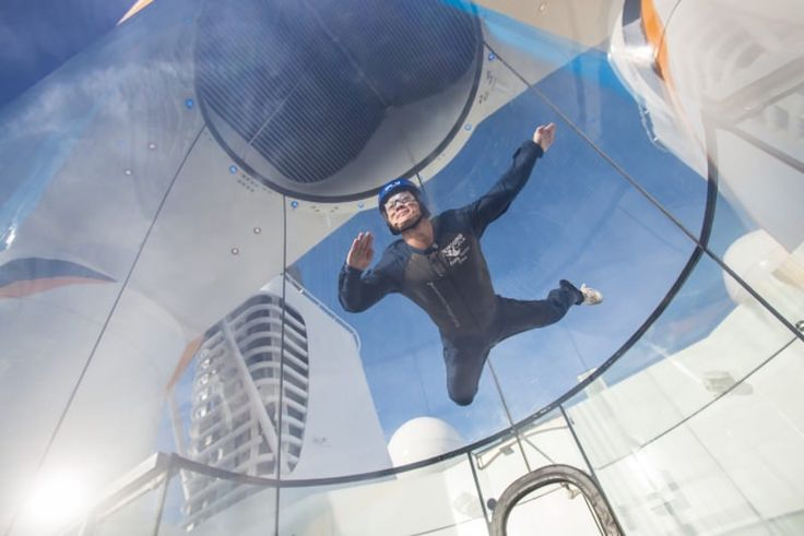 This Royal Caribbean cruise flies you 23 feet into the sky on a unique skydiving experience