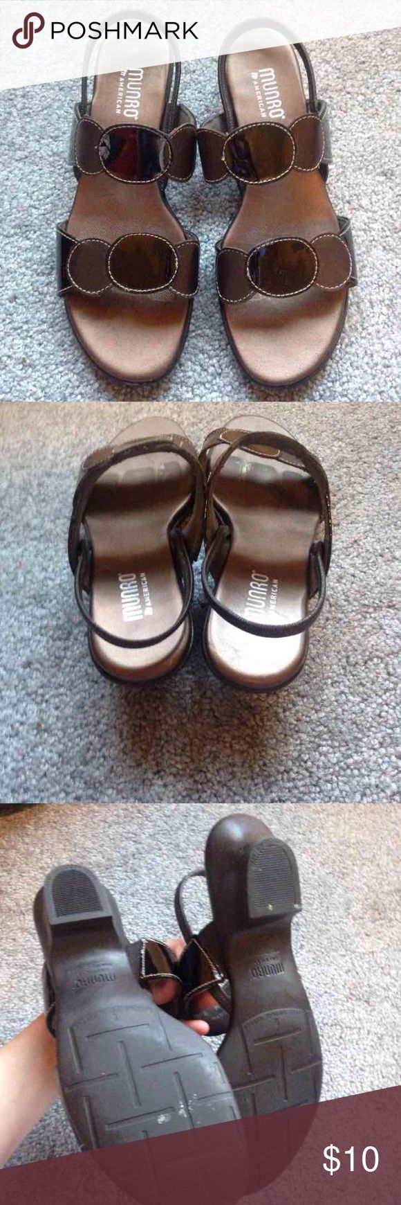 Munro Shoes Munro American size 8 black sandals. Some wear, but in great condition!  Price negotiable, look at other listings! munro Shoes Sandals